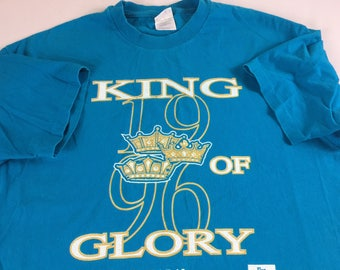 King Of Glory T-Shirt 1996 Mens L/XL Christian Jesus Psalm 24 Bible God Holy Hanes USA Made