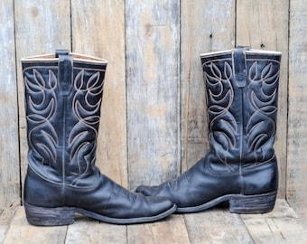 1960s Boots cowboy Cowboy Boots vintage boots Western Boots Biker Boots Moto Boots Bad Boy Boots 1960s clothing Texas boots 41 cowboy boots