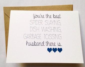 Husband Valentine - Husband Card - Husband Card - Anniversary Card - Sweet Love Card