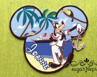 Disney Cruise Door Magnet - Goofy Magnet - Custom Cruise Door Magnet  - Disney Cruise Door Goofy Magnet - Castaway Cay Magnet