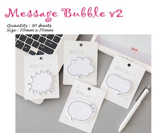 Message Bubble v2 Post IT Notes Sticky Memo