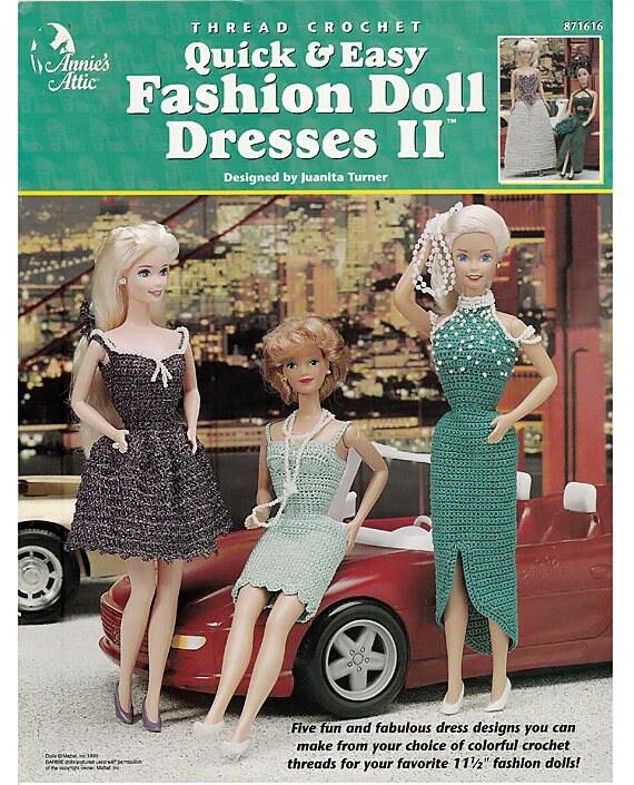 Schnell & einfach Mode Puppe Kleider II Faden Häkelmuster Buch