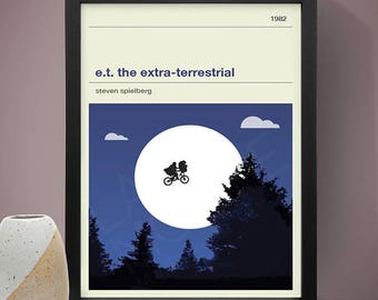 E.T. the extra terrestrial Movie Poster, The Extra-Terrestrial Movie Poster - Movie Poster, Movie Print, Film Poster, Film Print