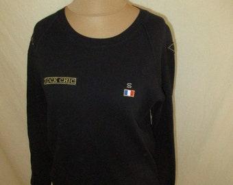 Sonia Rykiel black T-shirt size XL vintage in-75%