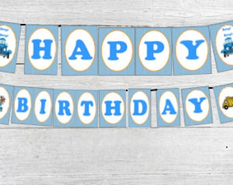Little Blue Truck Printable Party Banner