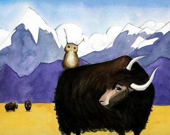 Fine Art Print - Herbert Meets a Yak