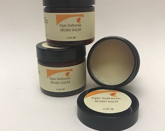 Beard Balm Unscented All Natural Handmade for Beard and Mustache