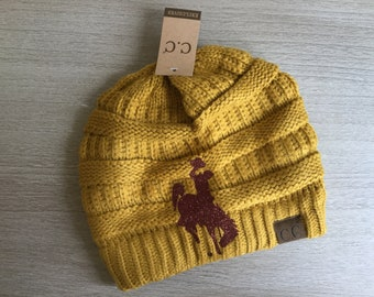 Officially licensed Wyoming beanie ~ Fitted Beanie
