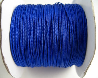 10 meters wire 0.4 mm royal blue nylon