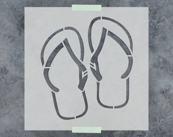 Flip Flops Stencil - Reusable DIY Craft Stencils of Flip Flop Sandals