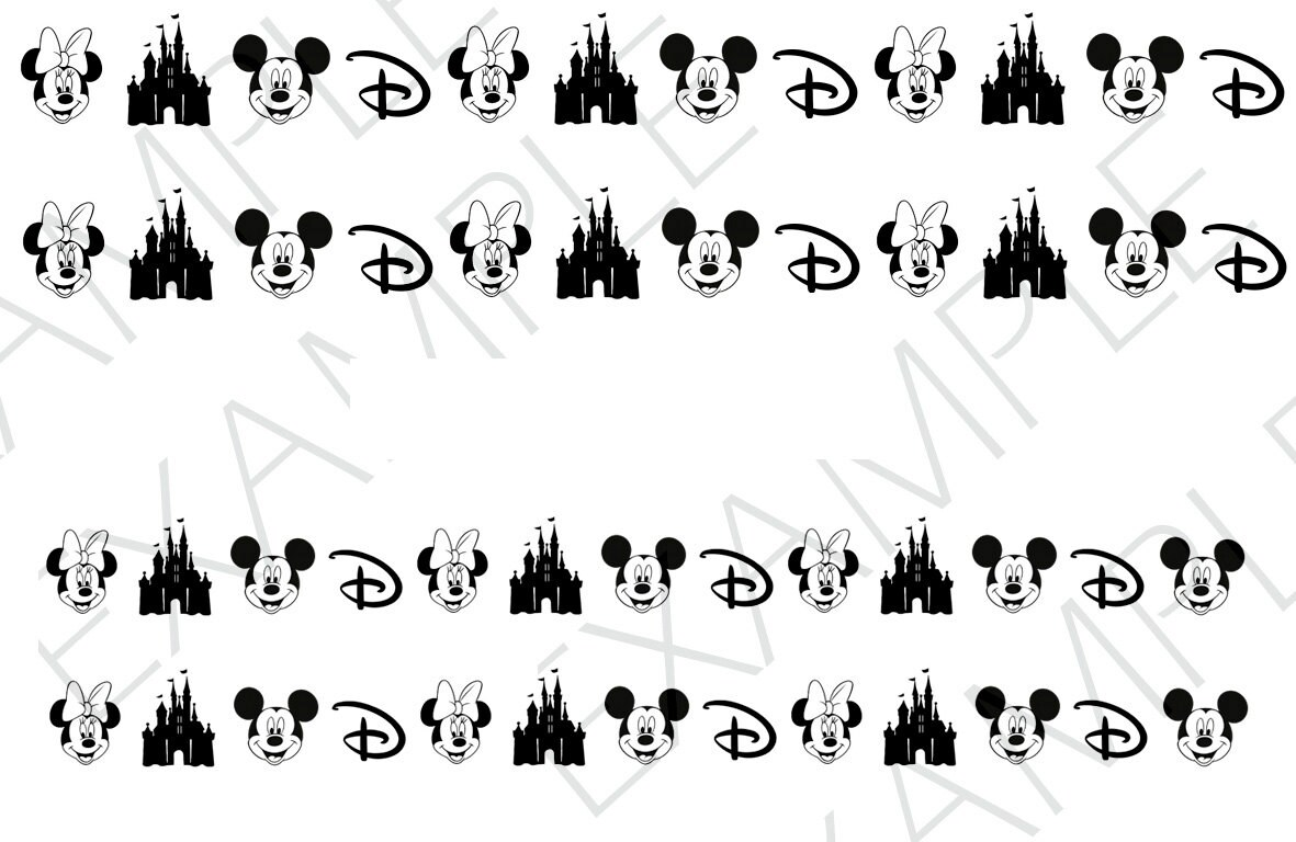 50 Disney Nail Decals from AMnails on Etsy Studio
