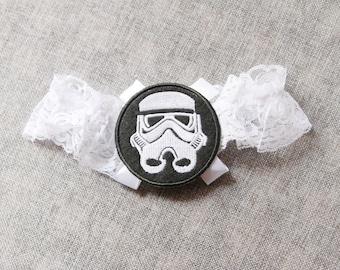 Star Wars Garter Stormtrooper Garter Wedding Garter Bridal Garter - Toss Garter - Geek Garter Nerd Garter