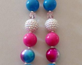 Doll chunky bead necklace