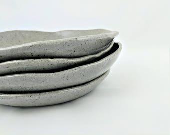 Stoneware Plate Gray Ceramic Salad Plate Handmade Speckled Plate Modern Plate Salad & Stoneware Dinner Plate Gray Ceramic Plate Handmade Pottery