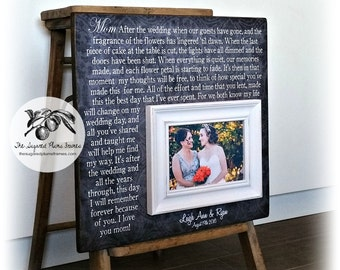 Mother Of The Bride Gifts From Daughter, Mother of the Bride Frame, After The Wedding, 16x16 The Sugared Plums Frames