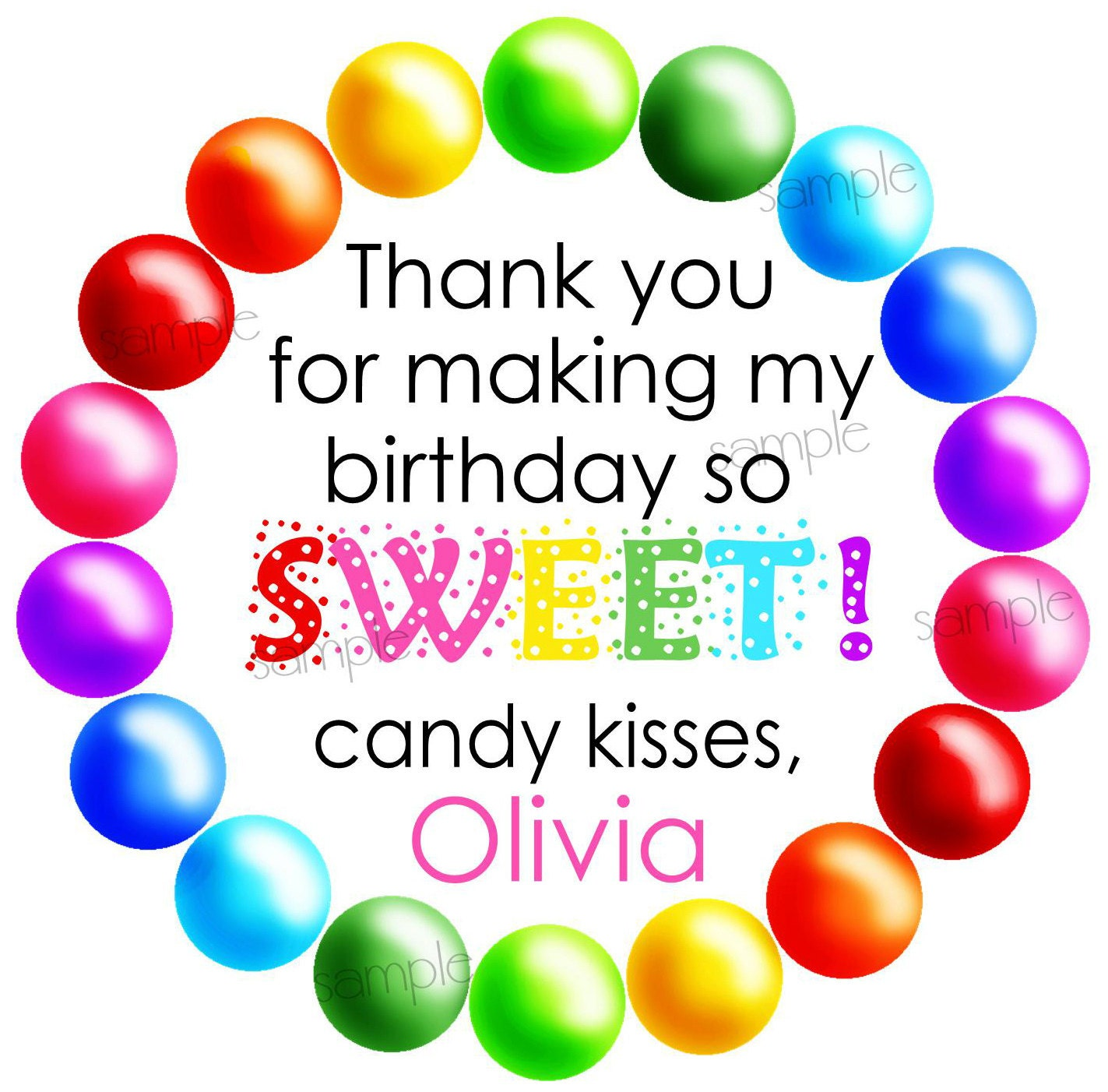 Candy Stickers,Gumball Stickers,Sweet shop stickers, Candy Birthday ...