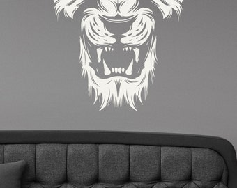 Lion Wall Decal Removable Vinyl Sticker Wildlife Art Animal Decorations for Home Housewares Kids Living Room Bedroom Decor ln3