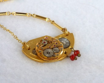 Eco Chic --Vintage Pocket Watch Plate SN325
