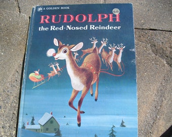 Vintage Children's Christmas Book Rudolph the Red Nosed Reindeer