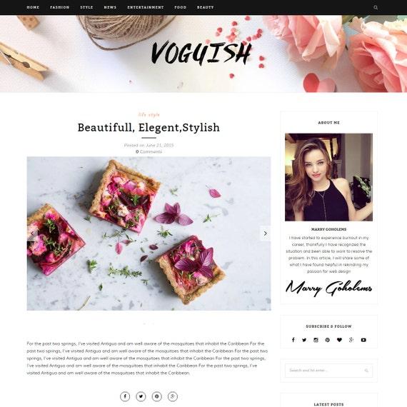 Boga moda Blogs femenino wordpress theme-minimalista y