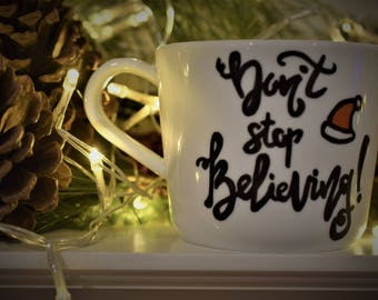 Winter Mug - 'Don't Stop Believing'