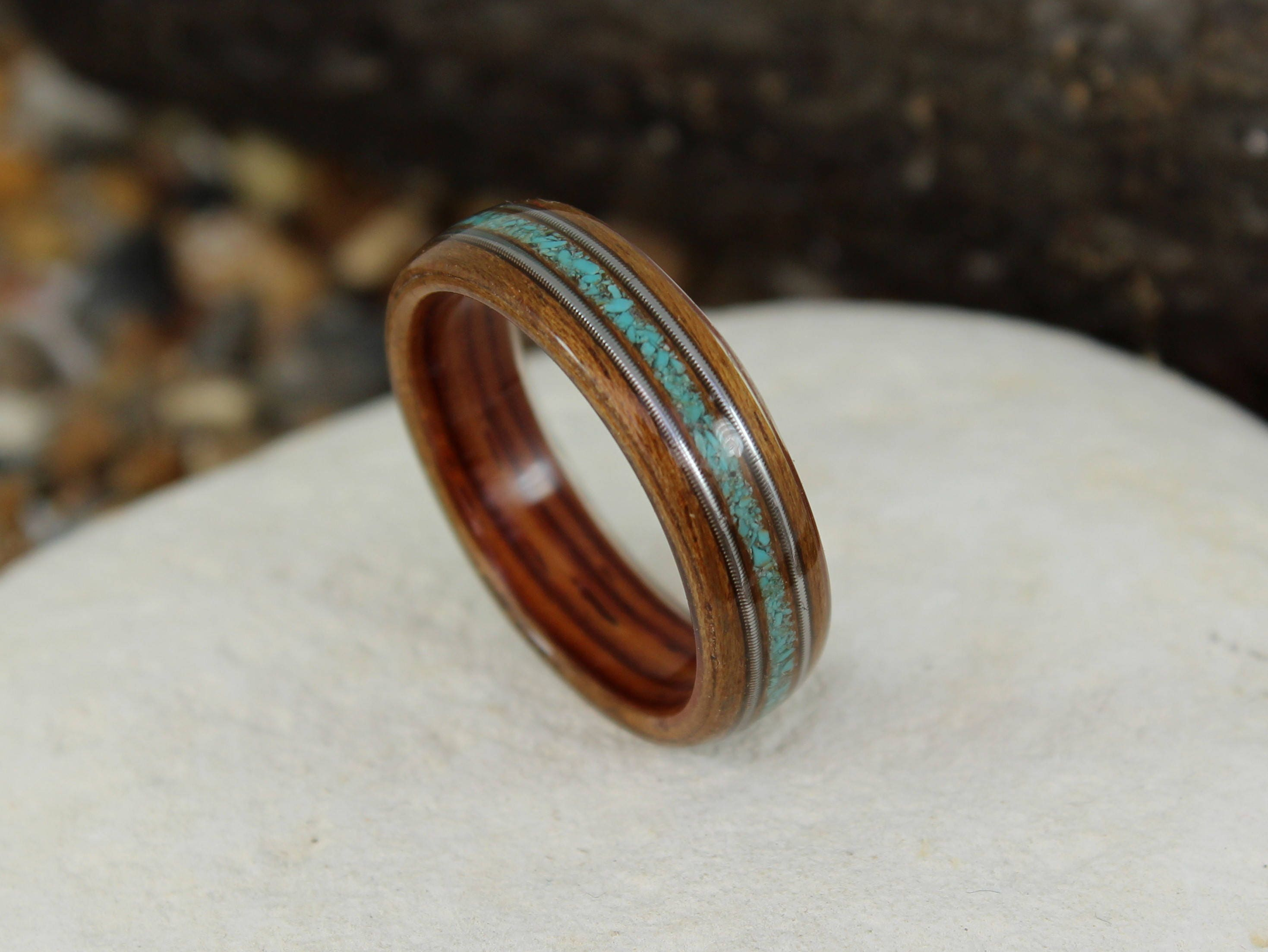 engagement friendly wedding beautiful alternative wood pin are and simply eco rings to a abalone