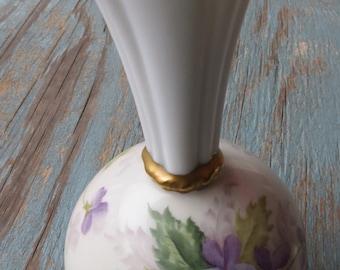 Vintage Gilbreth 1950 Violets Vase