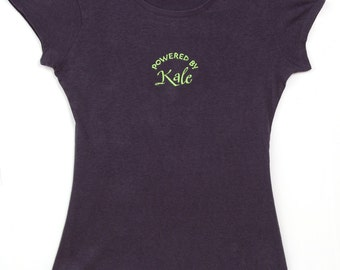 Powered By Kale Womens Short Sleeve