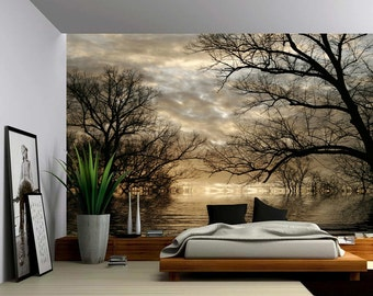 Sunset Sea Ocean Wave Large Wall Mural Self Adhesive Vinyl