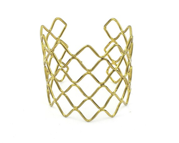 Honeycomb Cuff Bracelet, Geometric Bracelet, Minimalist, Arm Cuff, Boho, Bohemian, Gypsy, Festival Jewelry, Modern, Contemporary