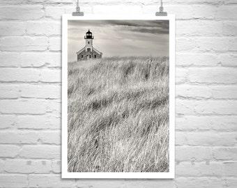Block Island Lighthouse Print, Rhode Island, Fine Art Photography, Lighthouse Art, New England Art, Vertical Print, Wall Art, Canvas Print