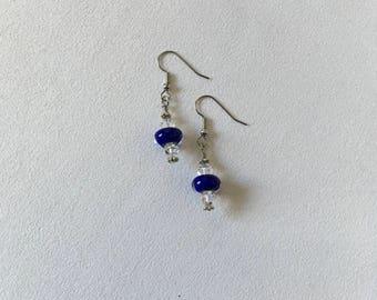 Cobalt Drop Earrings