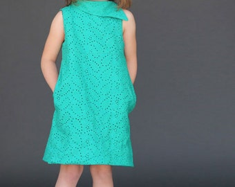 Fresh Bloom Frock PDF Sewing Pattern Girls Toddlers 18m 2T 3T 4T 5 6 7 8