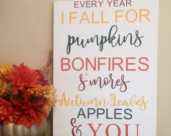 Two sided Fall/Winter Sign