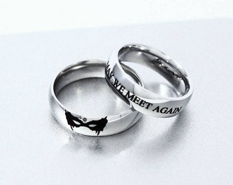 May We Meet Again Engagement Ring, Clexa Ring, Heda, Wanheda, Heda Ring, Clexa Jewelry, The 100, Clarke Lexa Ring, Skaikru Trikru Ring,