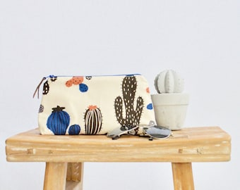 Cactus make up bag Pencil case Makeup bag Gift for Mom Best friend gift Gift for women Gift for her Bridesmaid gift Mothers day gift