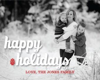 Happy Holidays Greeting Card - One photo