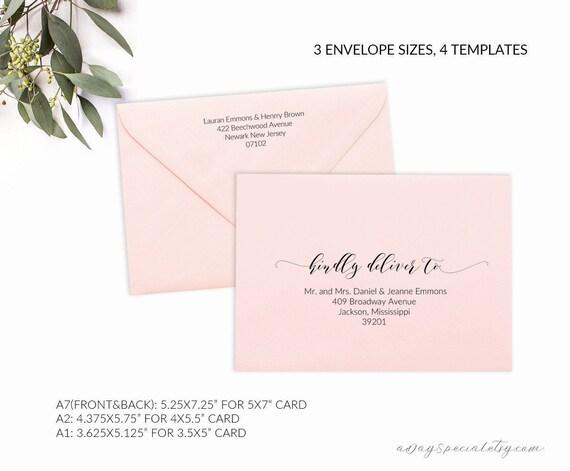 Printable Envelope Template Editable Envelope Template A
