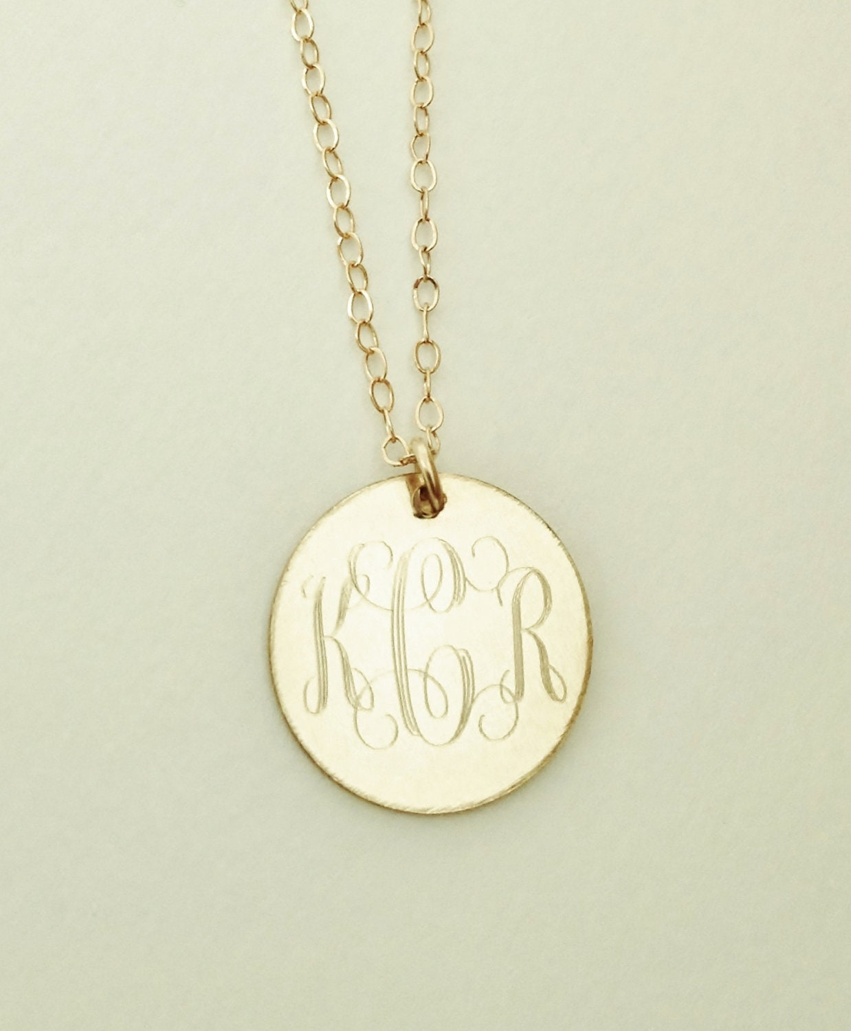 Graduation present gold filled monogram necklace zoom mozeypictures Image collections
