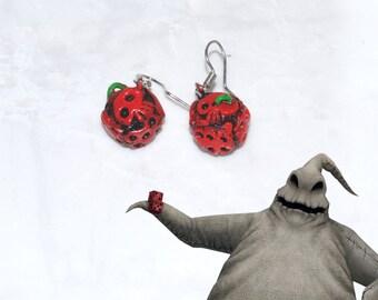 Oogie Boogie earrings, Oogie Boogie dice, The Nightmare before Christmas jewelry, Tim burton jewelry, nightmare before Christmas earrings