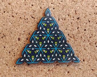 Sacred Geometry Triangle Pin