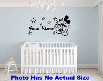 Mickey Mouse Decal Etsy - Personalized custom vinyl wall decals for nursery