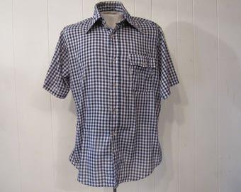 Vintage shirt, Levis shirt, short sleeve shirt, 70s shirt, vintage Levis, vintage clothing, L
