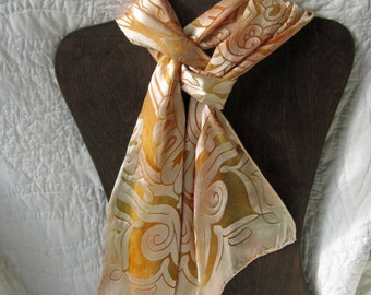 Buttery Elegance - Hand Dyed Silk and Rayon Devore Scarf