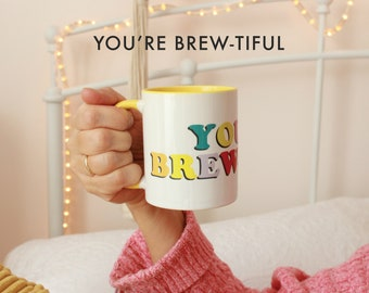 Cheer Up Gift Box | Thinking of You Gift | Get Well Package | Coffee Lover Gift | Coffee | You're Brewtiful Mug | Happy Muggin™ Collection
