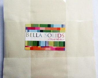 SNOW Layer Cake Bella Solids Moda Basics 42 pieces 10x10 inch squares--cream neutral white--9900LC 11