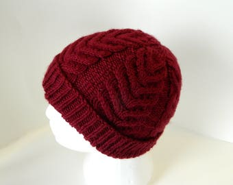 Cable Knit Hat - Knitted Hat - Winter Hat - Cable Toque - Cable Ski Hat - Knit Toque - Knit Accesories