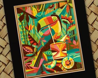 Tiki Toucan Print