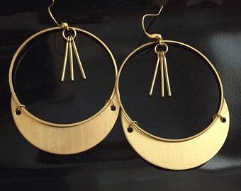 Starling Earrings in brass