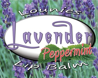 Lavender Peppermint Lip Balm  Flavored   Essential Oil   Scented Lip Balm   Flavored Chapstick   Lip Balm   Chapstick   Chap Stick   Flavors